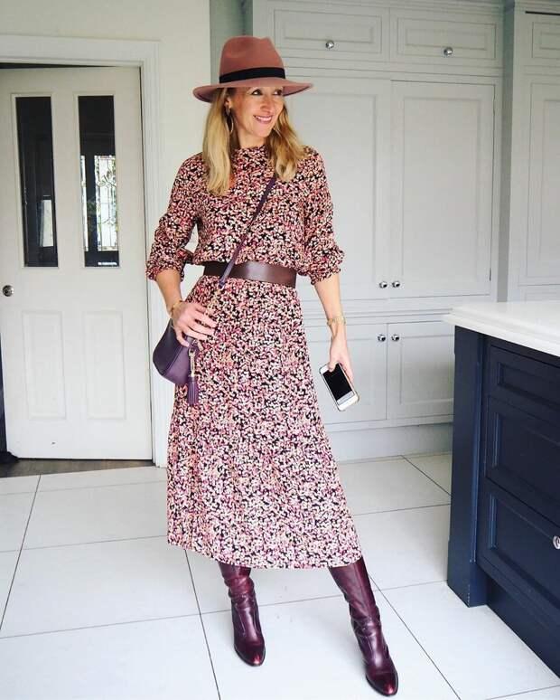 Стильный образ с платьем. /Фото: ladysovet.ru
