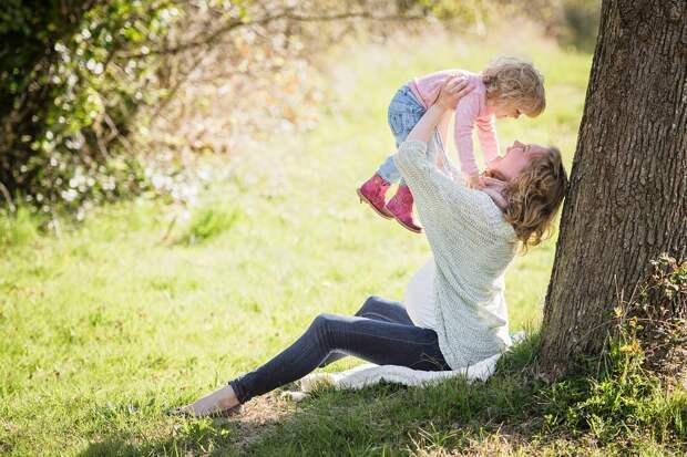 Парк, Мать, Девочка, Мама, Ребенок, Для Малышей, Пейзаж