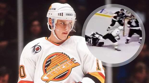 Легендарный гол русского хоккеиста Буре. Он пробежал весь лед и уложил вратаря на глазах у великого Гретцки