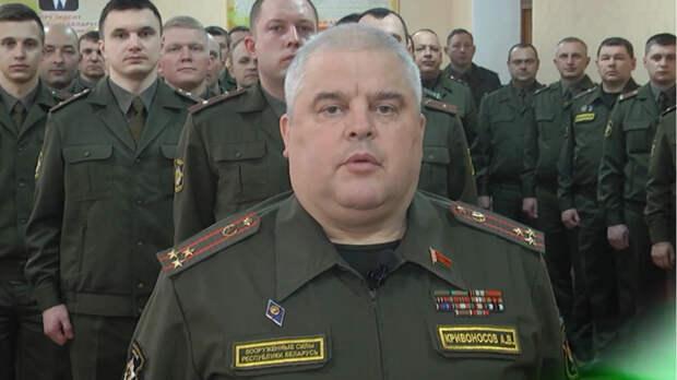 Гомельские военные пожали руки для «передачи энергии» от Лукашенко