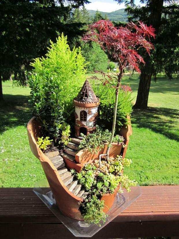 Потрясающий миниатюрный сад на окошке