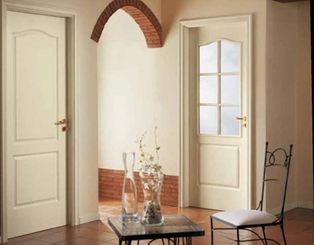 Двери цвета капучино в интерьере помещения (25 фото)