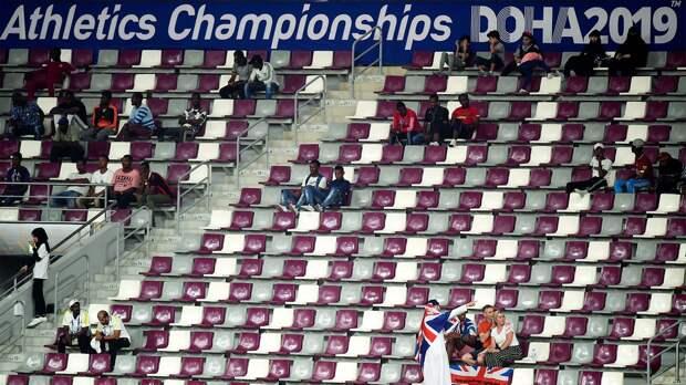 НаЧМполегкой атлетике вКатаре все ужасно спосещаемостью. Говорят, что дело вполитике