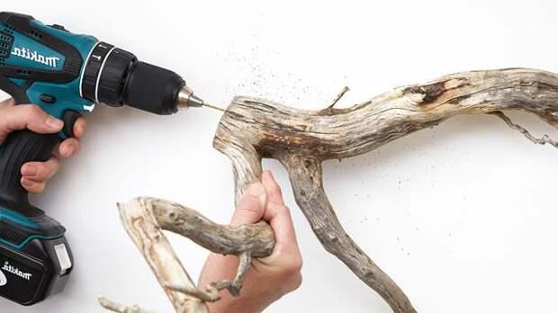 Каскадная люстра с растением своими руками