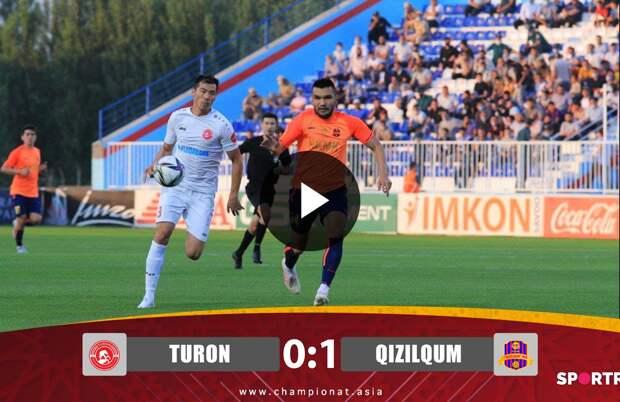 Superliga. Turon - Qizilqum 0:1. Highlights