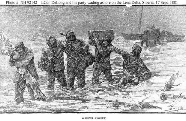Переход экипажа с яхты на льдину. Фото с сайта yakutskhistory.net