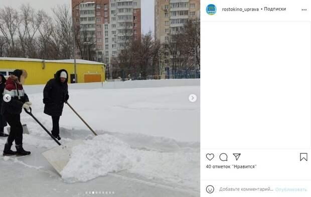 Помочь коммунальщикам ликвидировать последствия снегопада вышли волонтеры
