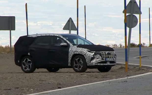 Испытания нового Hyundai Tucson сняли на видео