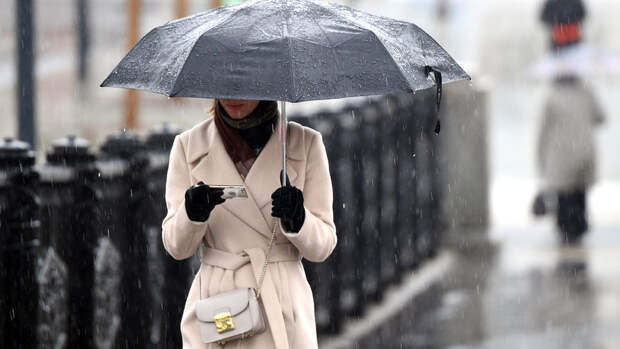 В Москве в воскресенье ожидается до +13°С и дождь