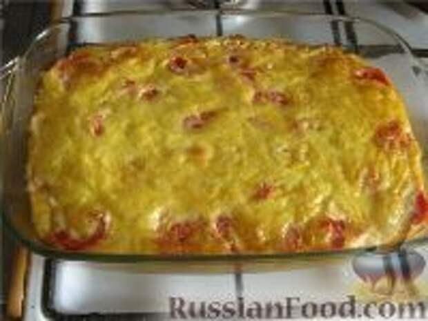 Фото приготовления рецепта: Картофельная запеканка с грибами постная - шаг №8
