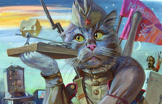Как коты спасали советских солдат во Вторую мировую войну