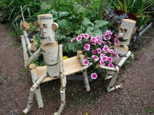 Как необычно украсить садовый участок