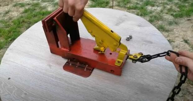 Как сделать слесарные тиски: из швеллера и автомобильного ручника