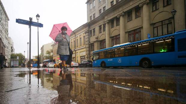 Москвичей предупредили о сильном ветре и дожде 20 октября