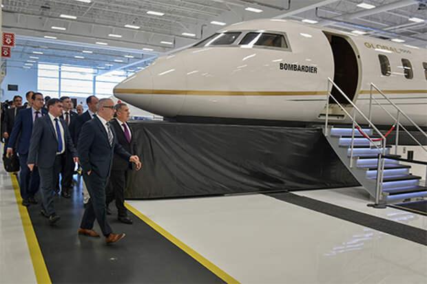 Рустам Минниханов предложил канадской Bombardier локализовать производство в Татарстане