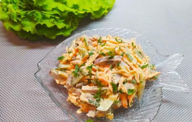 Салат, который готовлю чаще других. Ну очень вкусно!