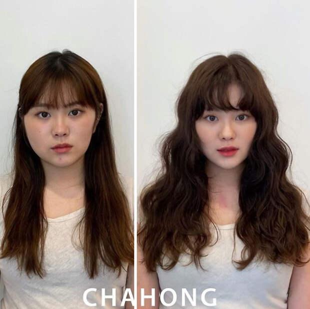 Корейская парикмахерша совсем чуть-чуть меняет прическу, но выглядит в 100 раз лучше