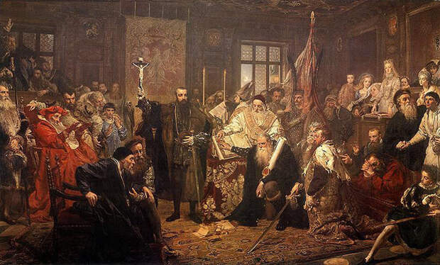 Люблинская уния (Иллюстрация из открытых источников)