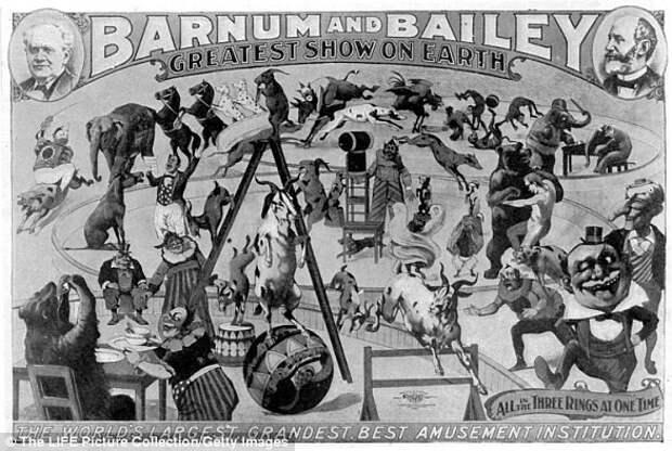 Афиша цирка 1890-х закрытие, сша, цирк
