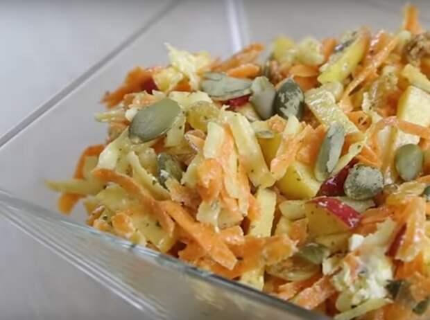 Превосходный витаминный салат с морковью