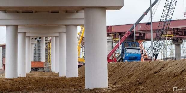 Бетонирование пролета моста через Лихоборку началось на участке СВХ