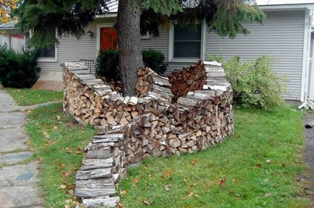 А вы умеете красиво хранить дрова? 20 креативных фотоидей поленниц и дровников