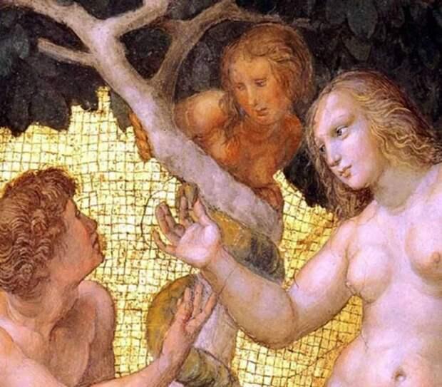 Адам, Ева и Лилит. Миниатюра ХV века.