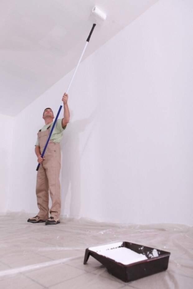 СтройРемПлан. Разводы и пятна после покраски потолка