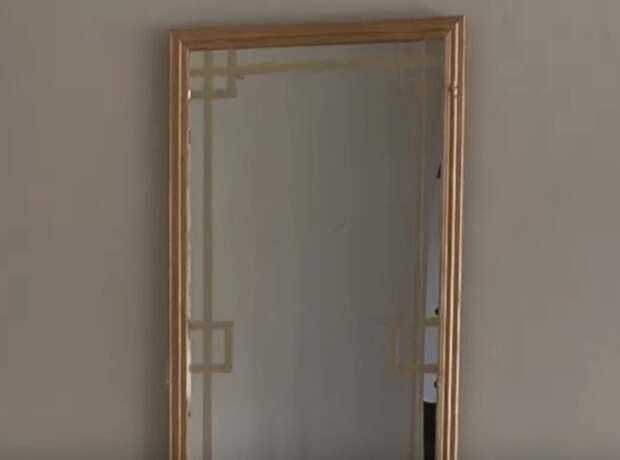Бюджетные идеи как обновить старое зеркало