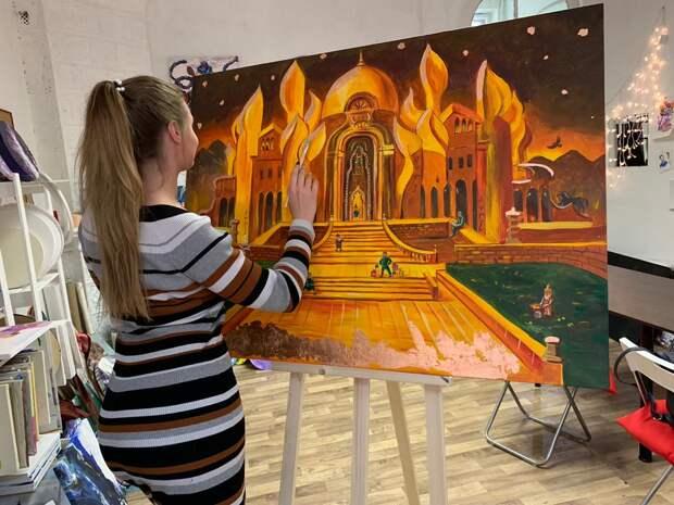 мастер-класс «Картина за 3 часа» в студии живописи ZuART