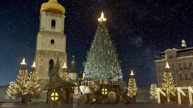Возле Софиевского собора создается антураж для апокалиптической картинки