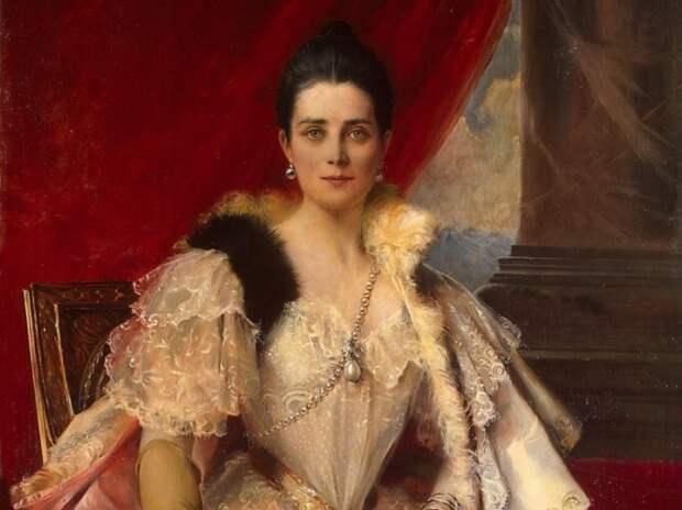 Ф. Фламенг. Портрет княгини З. Н. Юсуповой, 1894. Фрагмент   Фото: liveinternet.ru