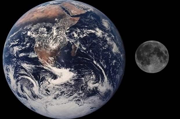 Объем Луны равен объему Тихого океана.