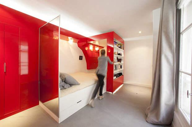 8 удивительных кроватей для небольших помещений (18 фото)