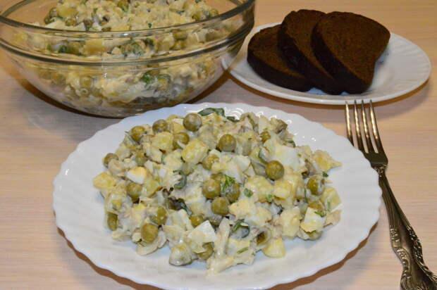 В советское время такой салат только и готовили на каждый день!