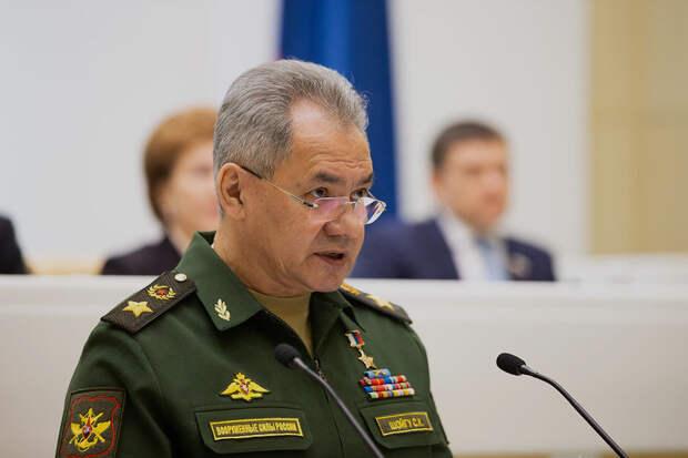 Шойгу назвал учения в Крыму ответом на активность НАТО