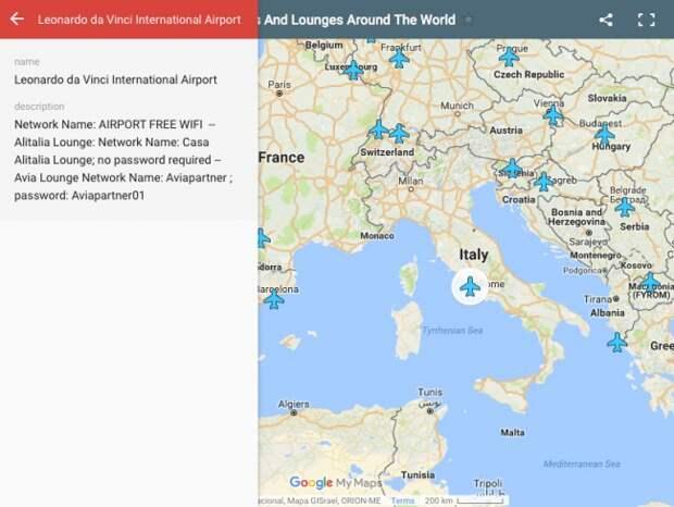 Эта карта поможет вам узнать пароли Wi-Fi в любом аэропорту мира