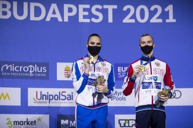 Российские синхронисты стали чемпионами Европы среди смешанных дуэтов