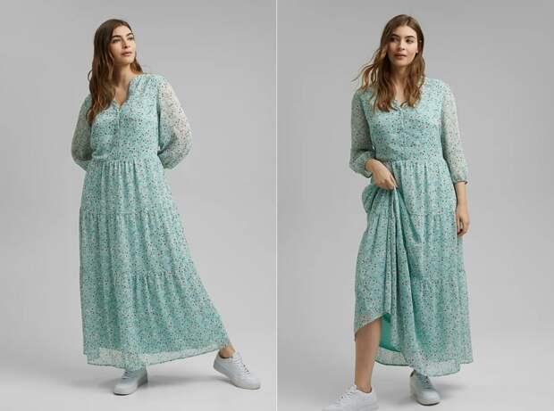 Стильные летние платья для полных