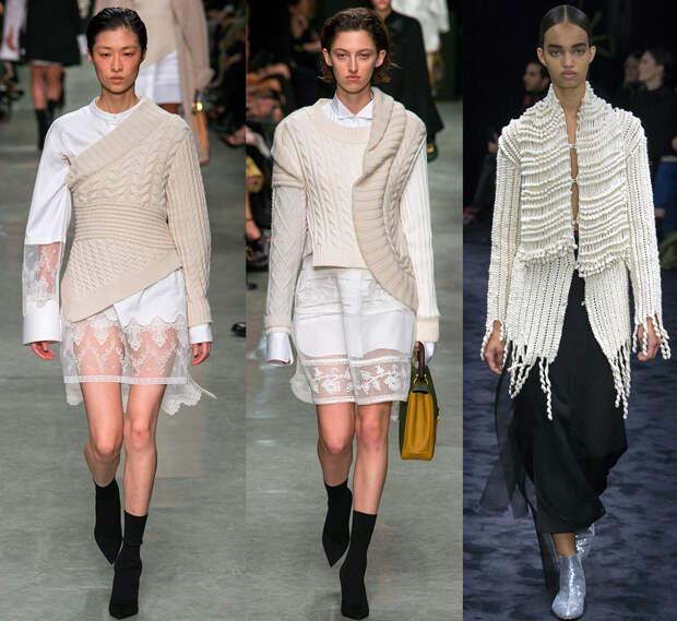 Модные ассиметричные свитера