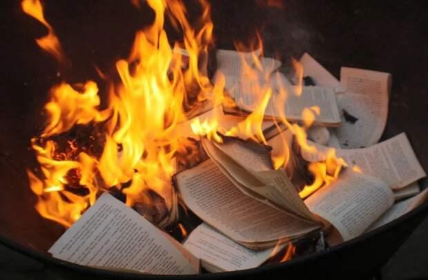 В Штатах активисты BLM начали жечь неугодные книги