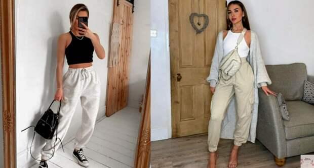 """Стильный тренд – джоггеры """"Карго 2021"""" великолепные примеры образов и с чем их сочетать популярные брюки"""
