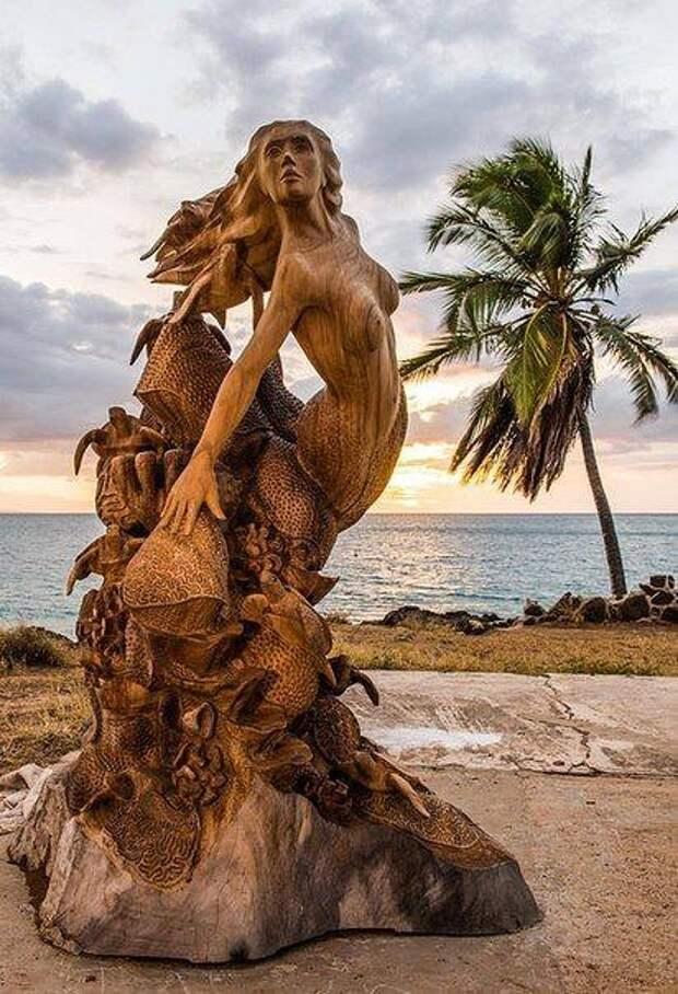 Деревянные скульптуры. Как же все-таки фантастично и необычно!