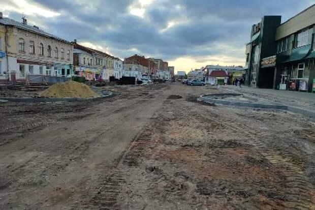 Ремонт сетей, дороги и парковок в районе центрального рынка Тамбова планируют завершить к середине ноября