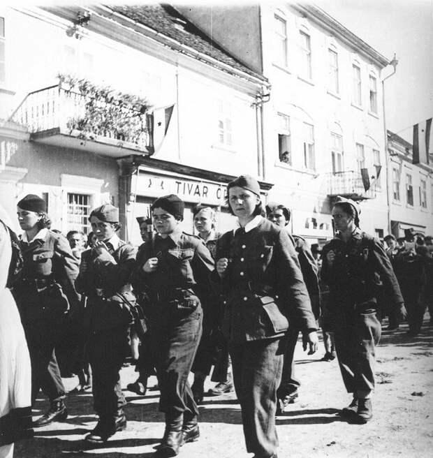 Марш на улице городка Пожега.