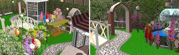 Пейзажный сад на участке