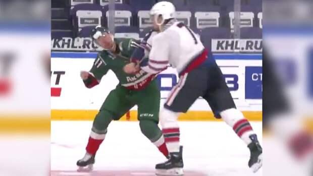 Жесткая драка в матче российских клубов. Игроки «Ак Барса» и «Нефтехимика» устроили бой в предсезонной игре: видео