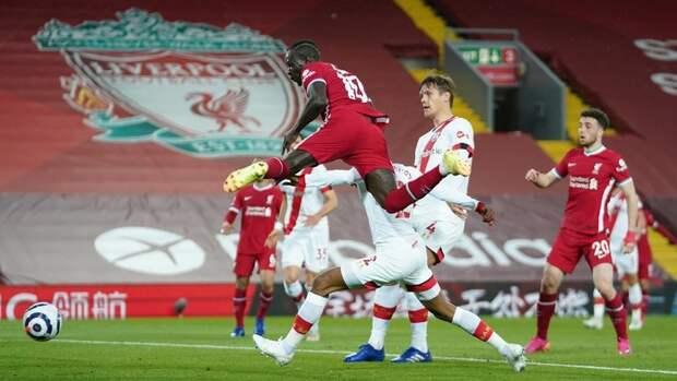 «Ливерпуль» одержал победу вматче с «Саутгемптоном»