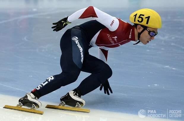 Виктор Ан на чемпионате мира по шорт-треку в Москве