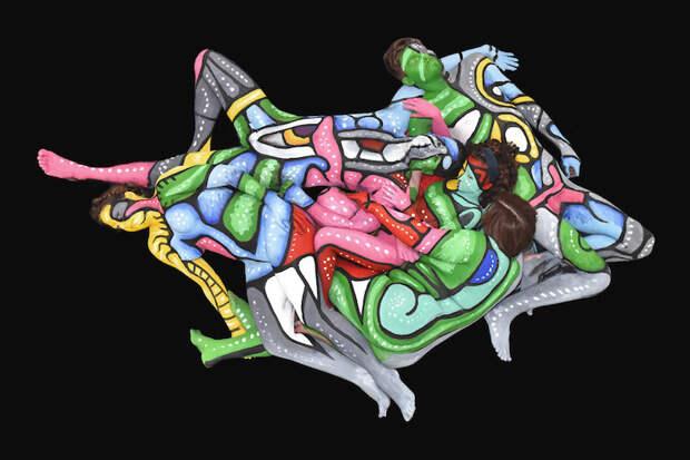 """Боди-арт """"Сиднейский лес"""" искусство, красиво, поразительно, тело, человек, шедевры"""